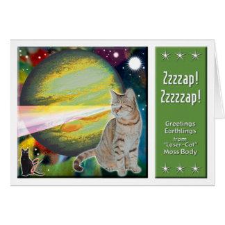 Laser-Cat Mossbody Card