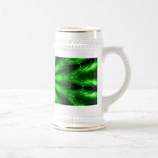 Laser flower beer stein