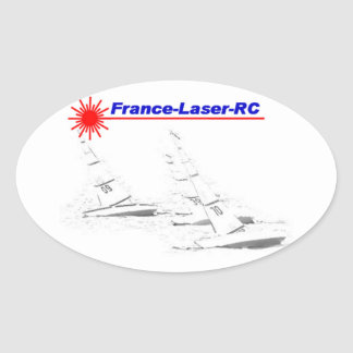 Laser France RC Classic Oval Sticker