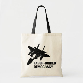 Laser-Guided Democracy / Peace through Firepower Canvas Bag