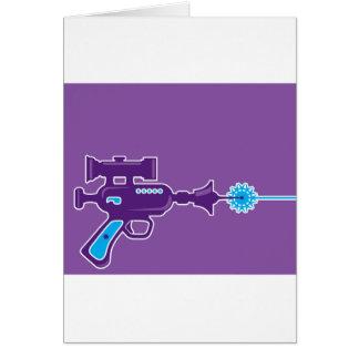 Laser Gun Vector Greeting Card