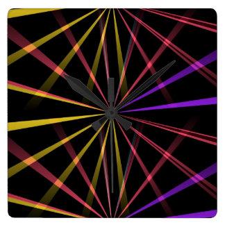 Laser lights square wall clock