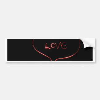 Laser love bumper sticker