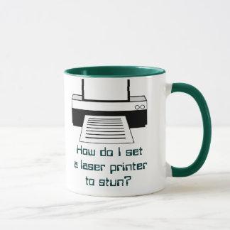 Laser Printer on Stun Mug