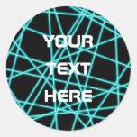 Laser Round Sticker