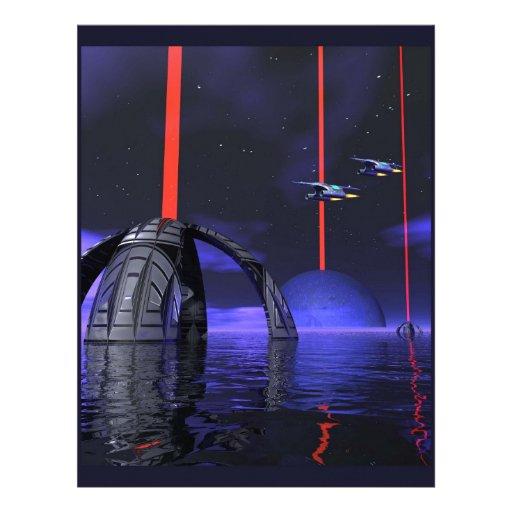 Laser Stars2 Custom Letterhead