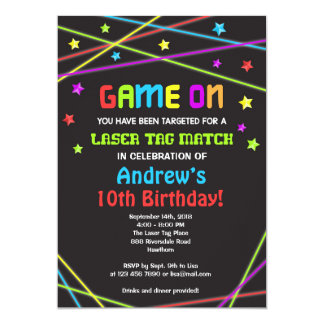 Laser Tag Birthday Invitation, Laser Tag Invite