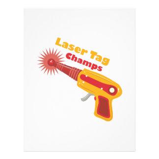 Laser Tag Champs Letterhead Design