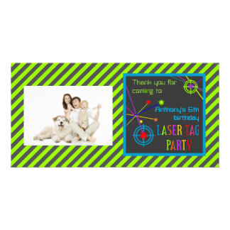 Laser Tag Party Birthday Thank You Picture Card