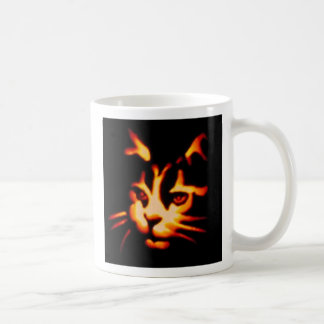 Laser View of a Halloween Cat Coffee Mug