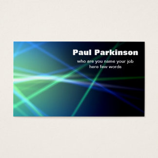 lasers electricity tech business card