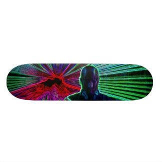 Lasers sur la planche à roulettes du DJ Plateau De Planche À Roulettes