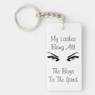 Lash addict keychain