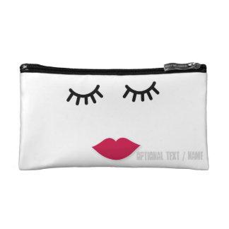 Lash and Red Lip Sweet Girl Portrait Makeup Bag