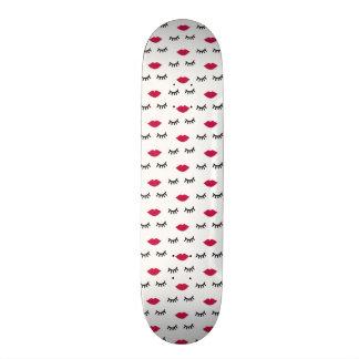 Lash and Red Lip Sweet Girl Portrait Skateboard