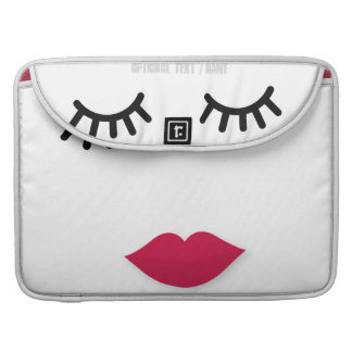 Lash and Red Lip Sweet Girl Portrait Sleeve For MacBooks