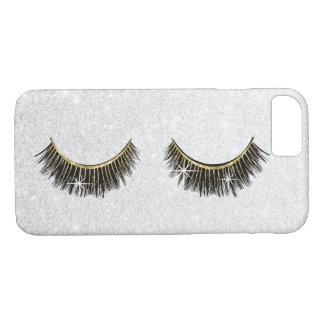 Lash Boss Eyelash Extensions Modern Silver Glitter iPhone 8/7 Case