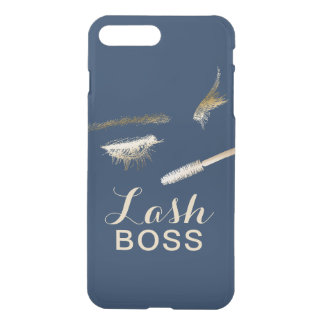 Lash Boss Modern Gold Eyelash Extensions Navy iPhone 8 Plus/7 Plus Case