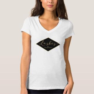 Lash Salon Black/Gold Personalized T-Shirt