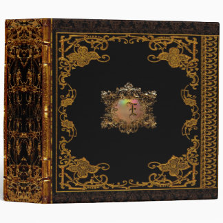 Lasher Antiqued Personalized Victorian 3 Ring Binders