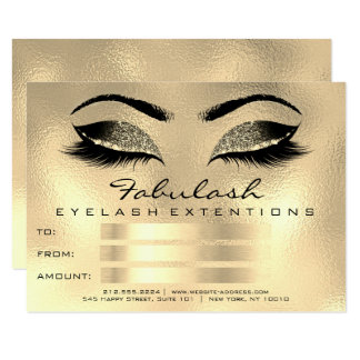 Lashes Browns Wax Makeup Artist Certificate Gift Card