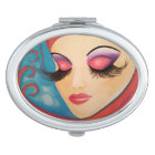 """Lashes"" Compact Mirror by OmThat"