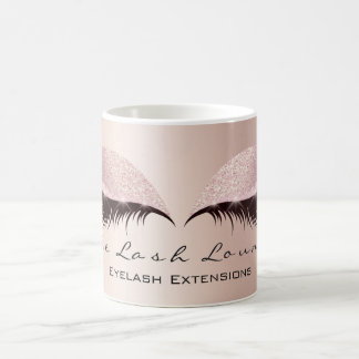 Lashes Extension Eye Makeup Studio Glitter Pink Coffee Mug