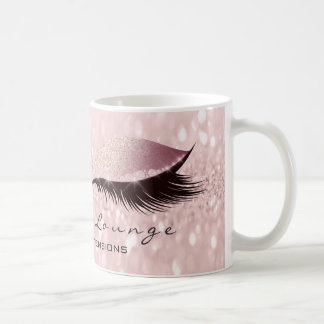 Lashes Extension Eye Makeup Studio Glitter Rose Coffee Mug