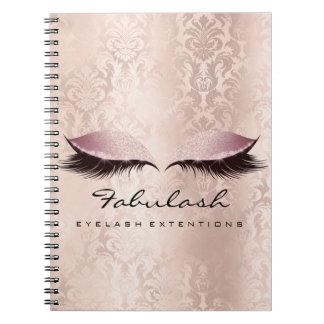 Lashes Extension Eyes Makeup Artist Damask Pink Notebook