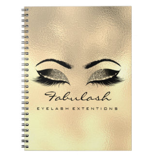 Lashes Extension Eyes Makeup Artist Luxury Browns Spiral Notebook