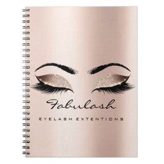 Lashes Extension Eyes Makeup Artist Rose Gold Skin Notebook