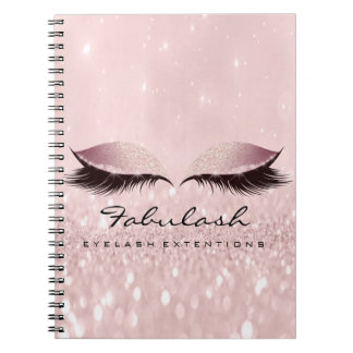 Lashes Extension Eyes Makeup Artist Rose Lux Pink Notebook