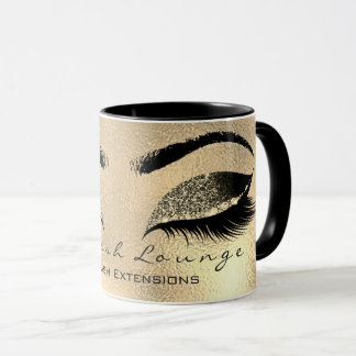 Lashes Extension Eyes Makeup Studio Glitter Browns Mug