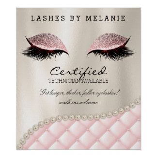 Lashes Eyelash Makeup Poster Pretty Eyes