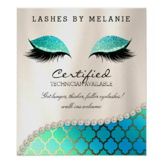 Lashes Eyelash Makeup Poster Pretty Eyes Moroccan