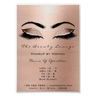 Lashes Makeup Artist Glitter Beauty Browns Waxing Poster