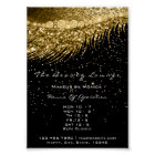 Lashes Makeup Opening Hours Golden Confetti Black Poster