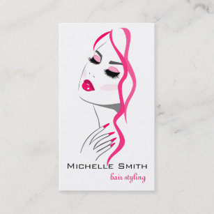 Pink manicure business cards profile cards zazzle ca lashes manicure hair pink girl beauty branding business card colourmoves
