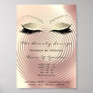 Lashes Studio Makeup Artist Glitter Beauty Salon Poster