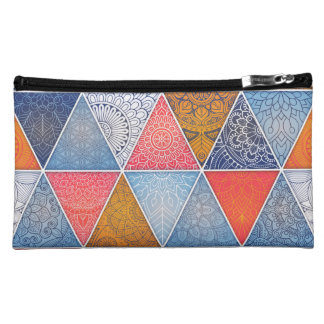 Laspina Sueded Cosmetic Bag