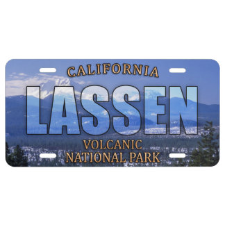 Lassen Volcanic National Park Front License Plate