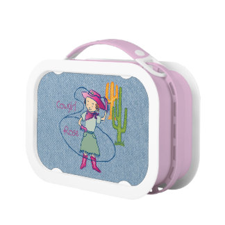 Lasso Cowgirl Rose Lunch Boxes