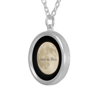 Lasso the Moon-Large Moon Silver Plated Necklace