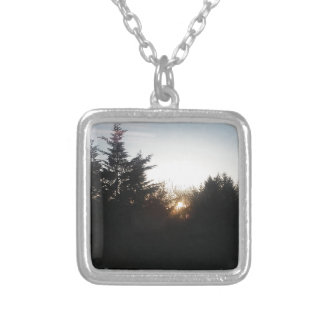 Last bit of energy silver plated necklace