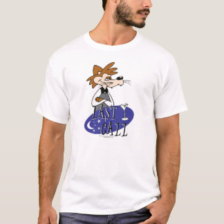 Last Call Cartoons with logo and Red Tucker T-Shirt