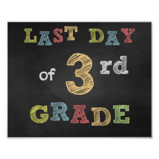 Last day of 3rd Clay sign - Chalkboard