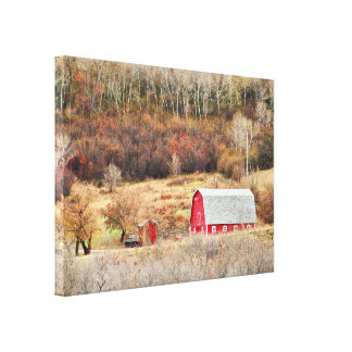Last Days of Autumn Stretch Canvas Print