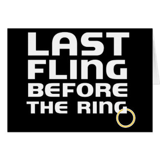 Last Fling Before Ring Bachelor Party Invitation