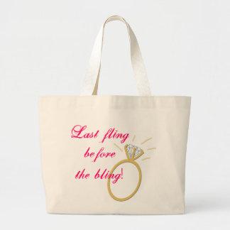 Last fling before the bling! jumbo tote bag