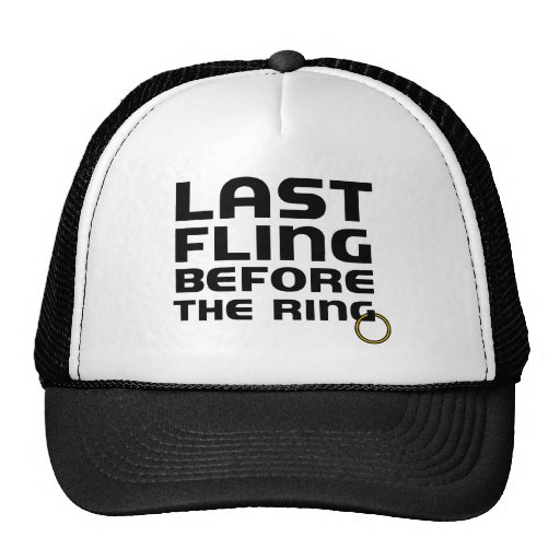 Last Fling Before the Ring Bachelor Hats